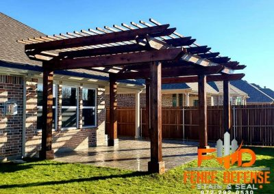 Pergola Staining Oxford Brown Transparent Stain
