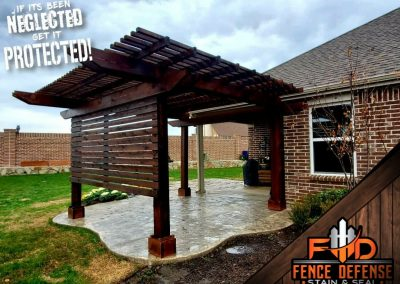 Pergola Staining with Oxford Brown Stain