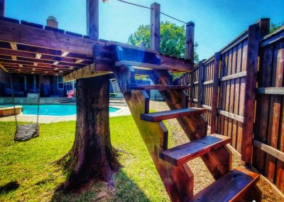 Playset Staining Frisco TX Oxford Brown Transparent