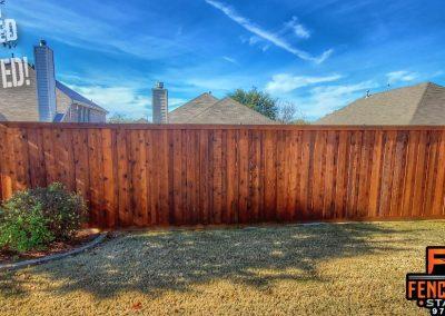 Professional Fence Staining Leatherwood Stain