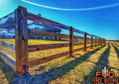 Ranch Style Fence Staining Oxford Brown Transparent