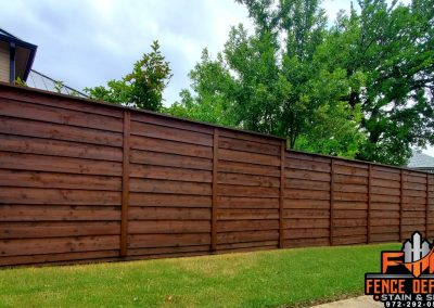 Horizontal Fence Staining Plano, Texas