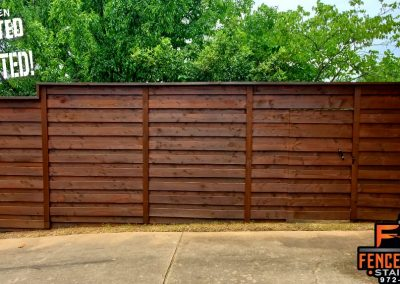 Fence Staining Color Oxford Brown Frisco, Texas