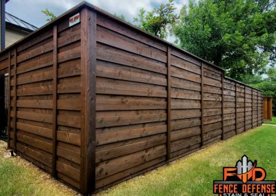 Horizontal Fence Staining in Plano, Texas